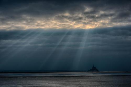 Mont St Michel grande marée 2015